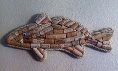 Fish wall hanging made with real wine by westernaccentsbymark