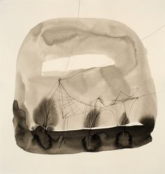"""Caroline Wright - Endeavor no. 7 (ink and graphite on paper 13x13.5"""" 2010)"""