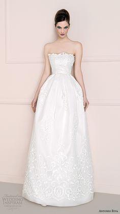 antonio riva 2016 bridal dresses straight across scalloped neckline romantic bell shape wedding dress helenalungo