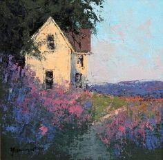 """Romona Youngquist, """"Lavender"""", 12"""" x 12"""" Oil on Canvas"""
