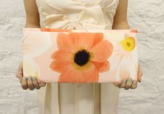 Peach Sunflower Clutch $35 mojospastyle.etsy.com