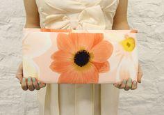 Peach Sunflower Clutch $35 mojospastyle.etsy.com