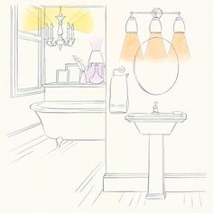 how to light any room - Bathroom Vanity Light Height