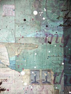 mixed media collage - Mae Chevrette