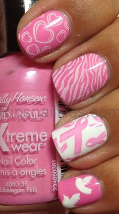 breast cancer awareness nail designs | Rin's Nail Files: Breast Cancer Awareness Design.....