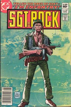 Sgt Rock #367, august 1982, cover by Joe Kubert.