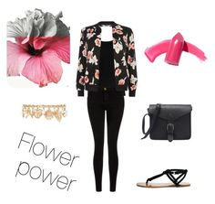 """""""Flower power"""" by nathalie1000000 on Polyvore featuring Twenty, Current/Elliott, New Look, Sole Society, Elizabeth Arden and Forever 21"""