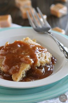 These Gooey Slow Cooker Caramel Blondies are soft, rich blondies that are slow cooked, creating a gooey caramel sauce for a killer dessert with minimal effort.