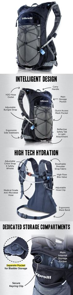 Hydration Packs 87125: Vibrelli Hydration Pack And 2L Bladder - High Flow Bite Valve Backpack With... -> BUY IT NOW ONLY: $35.55 on eBay!