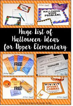 Halloween Activities and Ideas for Upper Elementary - Math Centers, Reading Activities, Science Activities, Freebies and MORE!
