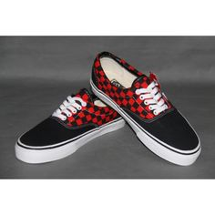 Vans Shoes 2-Tone Black/Red Checkerboard Classic Canvas Sneakers Cheap Van, Vans Skate, Van For Sale, Canvas Sneakers, Shoes Outlet, Vans Classic, Vans Shoes, Red, Shopping