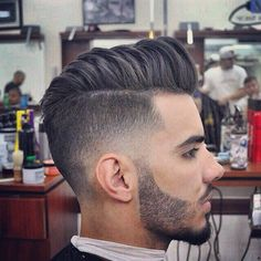 2016 Men's Hairstyles - High Fade Loose Pompadour