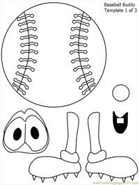 Baseball bat pattern. Use the printable pattern for crafts