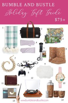 dd8bd8683aa Gift Guide Over $75 Photo By Bumble and Bustle Holiday Gift Guide, Holiday  Gifts,