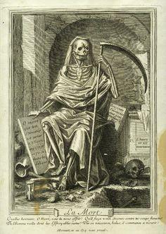 BONNART Henri II (1642 + 1711) - La Mort - gravure