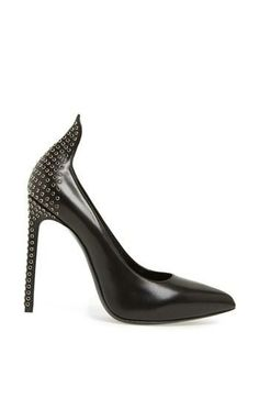 Love the crystal studs on these show stopping pumps by Saint Laurent.