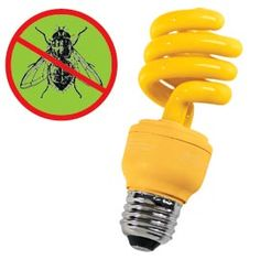 13W Yellow Bug Light   Enjoy your porch and patio after dark...without bugs.    No need for smelly bug sprays. Use this yellow bug light instead. Flying bugs and insects can't see yellow, so they aren't drawn to it as they would be to a regular white light.