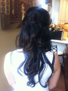 Wedding hair.. half up.