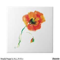 Shop Simply Poppy Ceramic Tile created by Buy_ArtDuo. Red Poppies, Red Flowers, Kitchen Collection, Decorative Tile, Office Gifts, Love Gifts, Keepsake Boxes, Little Red, White Ceramics