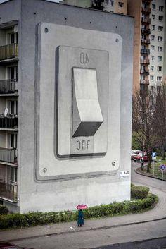 Escif - On-Off. Katowice, Poland  photo by Katowice Street Art Festival