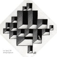 tangle pattern:  cubine