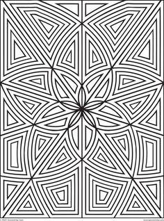 Colorear para adultos : Anti-stress / Zen - 55 - Esta imagen contiene : Geometría, SimetríaDesde la galería : Anti Stress