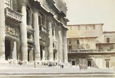 Edward Seago | St. Peter's, RomeEDWARD SEAGO  St. Peter's, Rome Bears Estate Stamp (verso) Watercolour 15 x 21 ins £14,000