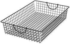 Spectrum Diversified Stowaway Basket, Under Bed Storage, Large, Industrial Gray Dog Storage, Wire Basket Storage, Fabric Storage Bins, Wire Storage, Metal Baskets, Fabric Bins, Large Baskets, Under Bed Storage, Storage Boxes