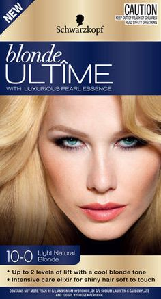 coloration schwarzkopf blonde ultime n100 light natural blond neuf - Coloration Keranove