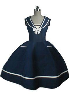 1950s Sailor Dress by Amber Middaugh --Save 37% at Chicstar.com Coupon: AMBER37