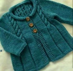 Hand Knitted Cardigan, Baby cardigan, Baby clothes, Baby, B Baby Sweater Knitting Pattern, Knit Baby Sweaters, Baby Knitting Patterns, Knitting Designs, Baby Patterns, Cardigan Bebe, Baby Cardigan, Knitting For Kids, Free Knitting