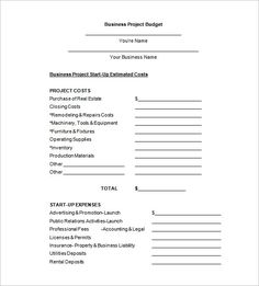 office Budget Request Proposal Example , Office Budget Template ...