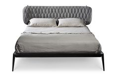 Upholstered double bed URBINO   Upholstered bed - Cantori