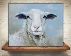How to Make a Realistic Skin (Blending Technique) Oil Painting cheap oil paint Cool Cartoon Drawings, Animal Drawings, Sheep Paintings, Animal Paintings, Cow Painting, Painting & Drawing, Painting Canvas, Watercolor Animals, Watercolor Paintings