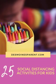 Looking for ways to stay busy? Here are 25 social distancing activities for kids to stay busy AND have fun for weeks to come. Indoor Activities For Kids, Summer Activities, Painting For Kids, Drawing For Kids, Edible Slime, Bath Paint, Do A Dot, Home Daycare, Building For Kids