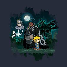 Awesome 'Smile%21+Link+and+Ganondorf' design on TeePublic!