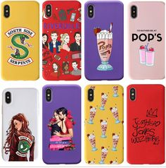 If this iconic TV series is your jam, then show up with this cute phone case to show your love for Riverdale. This cool deep red phone case features key themes and core characters in Riverdale. Suitable to the iPhone X/XR/XS/XS Max, and Max models.