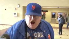 New York Mets Fan Goes Bananas After NJ Transit Derailment Causes Delay (Video) | Elite Sports NY
