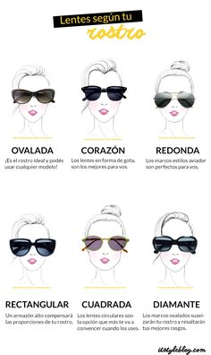 ¿Cuáles son las gafas más adecuadas según tu rostro? #complementos #gafas #rostro