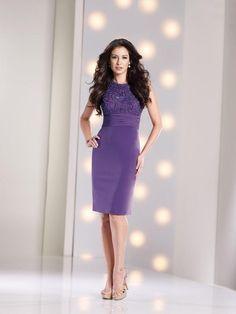 Pretty Tank Top Knee Length Purple Satin Sheath Column Mother Of The Bride Dress
