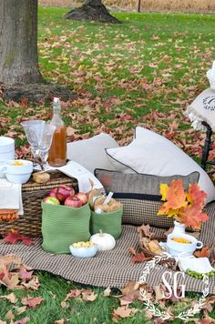 AUTUMN PICNIC IN THE LEAVES @ Stone Gable