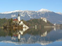 Lake Bled in Slovenia. Breathtaking beauty. It is one of the most wonderful places we have ever been!   Actually this picture was the inspiration for our logo!