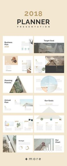Planner presentation template: 2018 business planning #simple #marketing