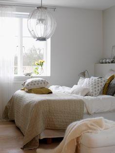 Love the lamp...44 Beautiful Bedroom Decorating Ideas