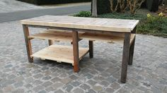 Recycled palets work bench