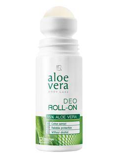 Aloe Vera - Deo Roll-On. Sanfter und gleichzeitig sicherer Schutz vor Körpergeruch und Schweiß. Hält den ganzen Tag und bietet ein natürliches Frische-Gefühl.
