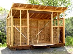 Build a Shed on a Weekend - Our plans include complete step-by-step details. If you are a first time builder trying to figure out how to build a shed, you are in the right place! Diy Storage Shed Plans, Wood Shed Plans, Shed Building Plans, Building A Deck, Building Ideas, Building Design, Backyard Office, Backyard Sheds, Shed Kits