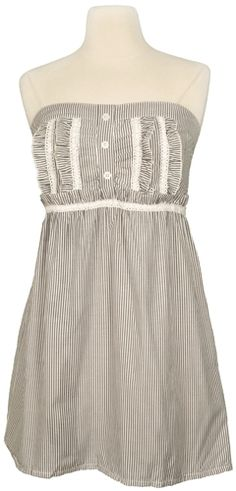 Cute Summer Dresses | Black and White Fine Stripe Summer Dress 2011 | Summer Dresses 2013