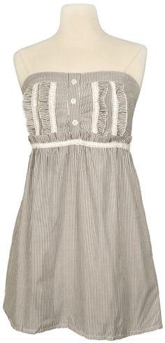 Cute Summer Dresses   Black and White Fine Stripe Summer Dress 2011   Summer Dresses 2013