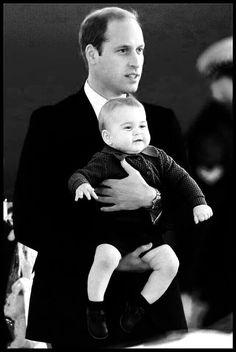 Prince William, Duke of Cambridge w/ his son Prince George Alexander Louis of Cambridge